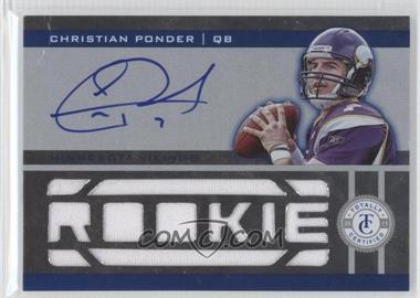 2011 Panini Totally Certified - [Base] - Totally Blue #208 - Christian Ponder /299