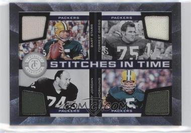 2011 Panini Totally Certified - Stitches in Time #10 - Bart Starr, Forrest Gregg, Paul Hornung, Henry Jordan /150