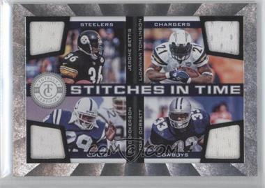 2011 Panini Totally Certified - Stitches in Time #2 - Eric Dickerson, LaDainian Tomlinson, Jerome Bettis, Tony Dorsett /200