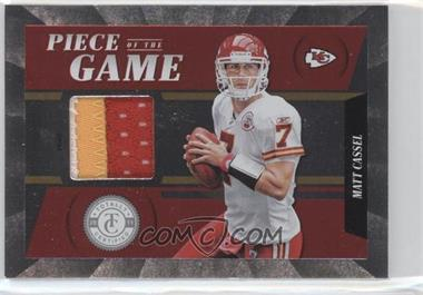 2011 Panini Totally Certified Piece of the Game Prime #24 - Matt Cassel /49