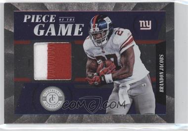 2011 Panini Totally Certified Piece of the Game Prime #33 - Brandon Jacobs /49