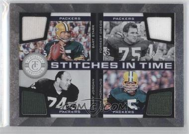 2011 Panini Totally Certified Stitches in Time #10 - Bart Starr, Forrest Gregg, Paul Hornung, Henry Jordan /150