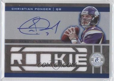 2011 Panini Totally Certified Totally Blue #208 - Christian Ponder /299