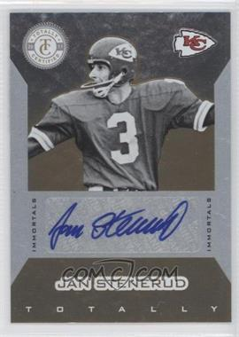 2011 Panini Totally Certified Totally Gold #134 - Jan Stenerud /15
