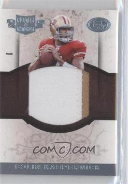 2011 Plates & Patches RPS Rookie Jumbo Materials Prime #10 - Colin Kaepernick /15