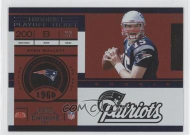 2011 Playoff Contenders - [Base] - Playoff Ticket #203 - Ryan Mallett /99