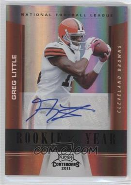 2011 Playoff Contenders - Rookie of the Year Contenders - Black Autographs #7 - Greg Little /10