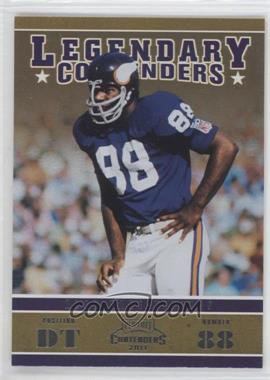 2011 Playoff Contenders Legendary Contenders #15 - Alan Page