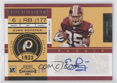 2011 Playoff Contenders #133 - Evan Royster