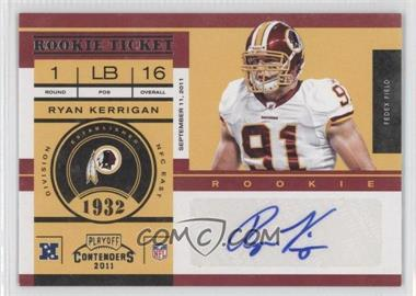 2011 Playoff Contenders #173 - Ryan Kerrigan