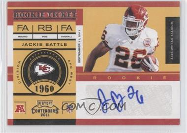 2011 Playoff Contenders #176 - Jackie Battle