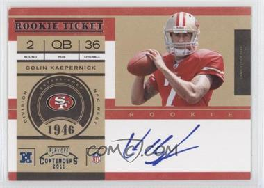 2011 Playoff Contenders #227 - Colin Kaepernick