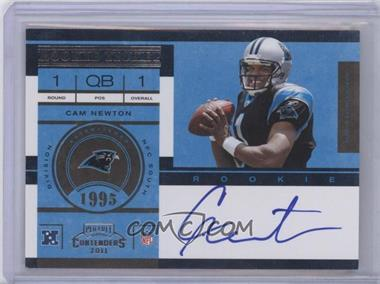 "2011 Playoff Contenders #228.2 - Cam Newton (No ""Riddell"" on Helmet, No Armband) /25"