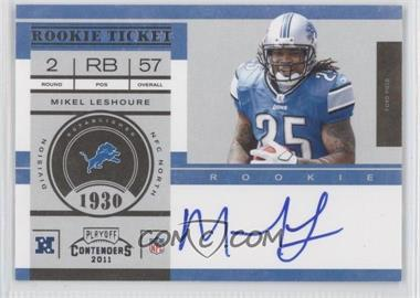 2011 Playoff Contenders #229.2 - Mikel Leshoure (No NFL Shield on Glove) /250