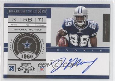 2011 Playoff Contenders #231 - DeMarco Murray