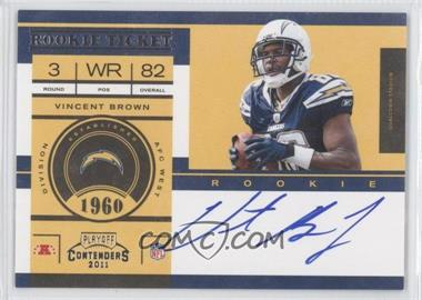 2011 Playoff Contenders #233.1 - Vincent Brown (Base)