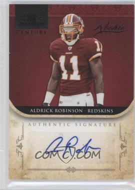 2011 Playoff National Treasures - [Base] - Century Black Signatures [Autographed] #206 - Aldrick Robinson /25