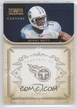 2011 Playoff National Treasures - [Base] - Gold Foil Century #144 - Kenny Britt /10