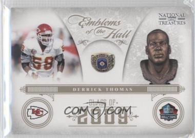 2011 Playoff National Treasures - Emblems of the Hall #15 - Derrick Thomas /99