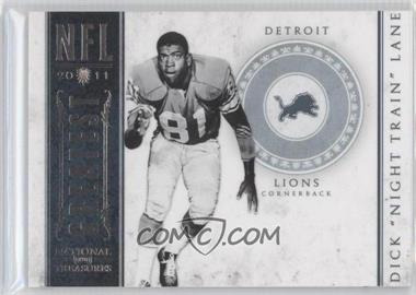 2011 Playoff National Treasures - NFL Greatest #27 - Dick Lane /99