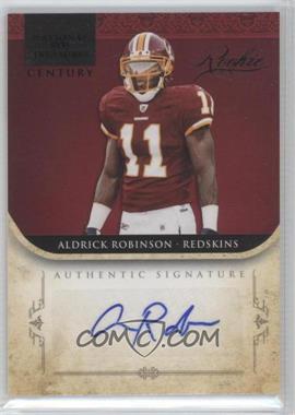 2011 Playoff National Treasures Century Black Signature [Autographed] #206 - Aldrick Robinson /25