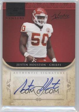 2011 Playoff National Treasures Century Black Signatures [Autographed] #254 - Justin Houston /25