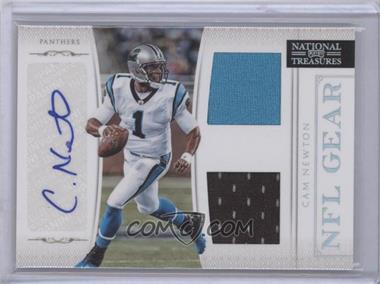 2011 Playoff National Treasures NFL Gear Combos Signatures [Autographed] #7 - Cam Newton /25
