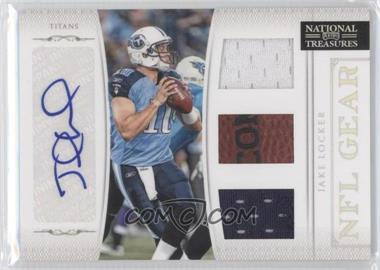 2011 Playoff National Treasures NFL Gear Trios Signatures [Autographed] #15 - Jake Locker /49