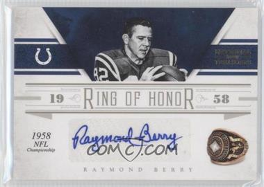 2011 Playoff National Treasures Ring of Honor Signatures [Autographed] #9 - Raymond Berry /49