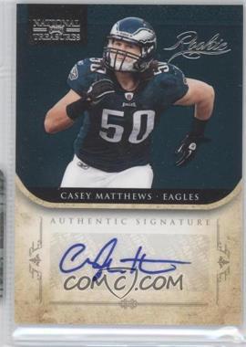 2011 Playoff National Treasures #218 - Casey Matthews /99
