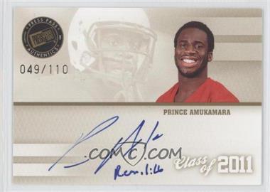 2011 Press Pass - Class of 2011 Autographs #C11-PA - Prince Amukamara /110
