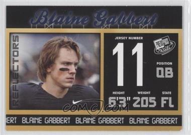 2011 Press Pass Blue Foil Reflectors #20 - Blaine Gabbert