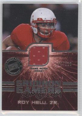 2011 Press Pass Gridiron Gamers Jerseys Silver #GG-RH - Roy Helu Jr. /225
