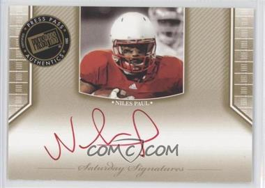 2011 Press Pass Legends - [???] #SS-NP - Niles Paul
