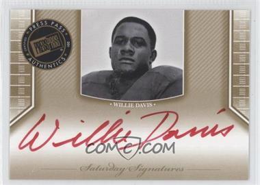 2011 Press Pass Legends - [???] #SS-WD2 - Will Davis