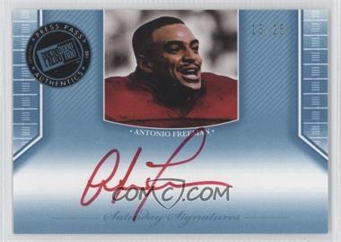 2011 Press Pass Legends - Saturday Signatures - Platinum Red Ink #SS-AF - Antonio Freeman /25