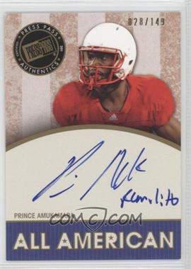 2011 Press Pass Legends [???] #AA-PA - Prince Amukamara /149