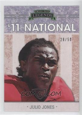 2011 Press Pass Legends [???] #NE-3 - Julius Jones /50