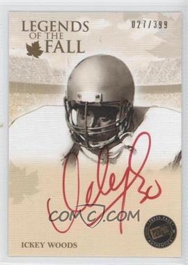 2011 Press Pass Legends Legends of the Fall Gold Red Ink Autograph [Autographed] #LOF-IW - Ickey Woods /399