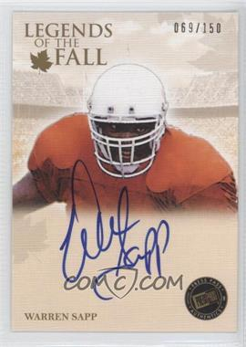 2011 Press Pass Legends Legends of the Fall Signatures [Autographed] #LOF-WS - Warren Sapp