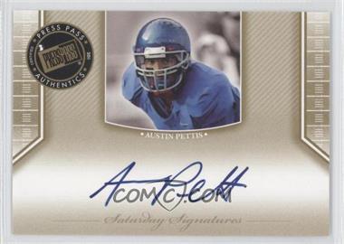 2011 Press Pass Legends Saturday Signatures Gold #SS-AP - Austin Pettis