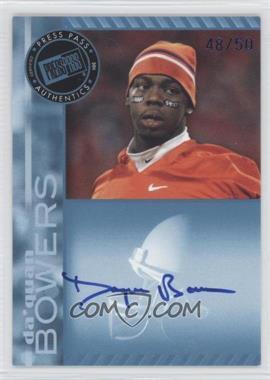 2011 Press Pass Signings Blue #PPS-DB - Da'Quan Bowers /50