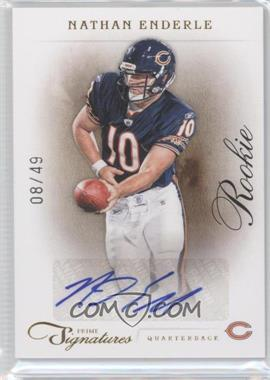 2011 Prime Signatures Gold Signatures [Autographed] #203 - Nathan Enderle /49