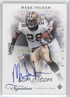2011 Prime Signatures Platinum Signatures [Autographed] #250 - Mark Ingram /25