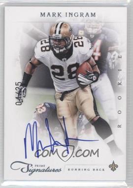 2011 Prime Signatures Platinum Signatures [Autographed] #250 - Rookie RPS - Mark Ingram /25