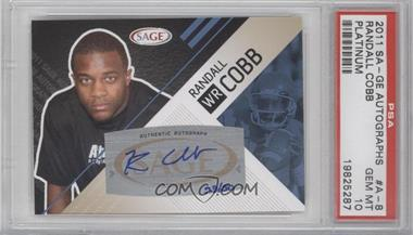 2011 SAGE Autographed Platinum Autographs [Autographed] #A-8 - Randall Cobb /50 [PSA10]
