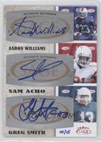 Aaron Williams, Sam Acho, Greg Smith /15