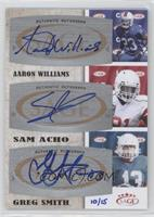 Aaron Williams, Sam Acho, Greg Smith /15