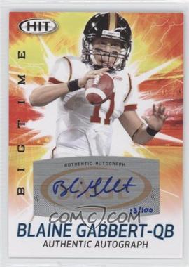 2011 SAGE Hit - Big Time Autographs #ABT18 - Blaine Gabbert /100