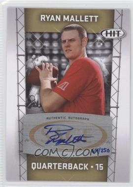 2011 SAGE Hit [???] #A15 - Ryan Mallett /250